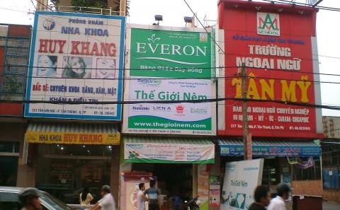 Làm Hộp Đèn Quảng Cáo Các Đại Lý/Cửa Hàng Bán Sản Phẩm Của Cty Nệm Everon