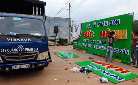 Bảng Hiệu Alu Công Ty Phân Bón Hàn-Việt Khu Vực Lâm Đồng