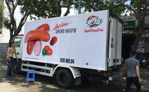 Nhận khảo sát - thiết kế - thi công dán quảng cáo trên xe tải giá rẻ