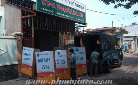 Làm Hộp Đèn Quảng Cáo Công ty SPM Tại Các Tiệm Thuốc Tây
