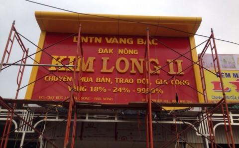 Nhận thi công mặt dựng alu tiệm vàng, bảng hiệu tiệm vàng