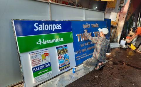 Làm Bảng Hiệu Alu Chữ Nổi Nhà Thuốc Tây Của Hãng Dược Phẩm Salonpas Hitsamitsu Tại Đồng Nai