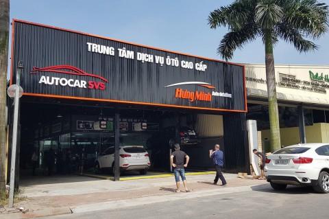 Làm bảng hiệu gara sửa chữa ô tô, trung tâm chăm sóc xe hơi, cửa hàng đồ chơi xe hơi